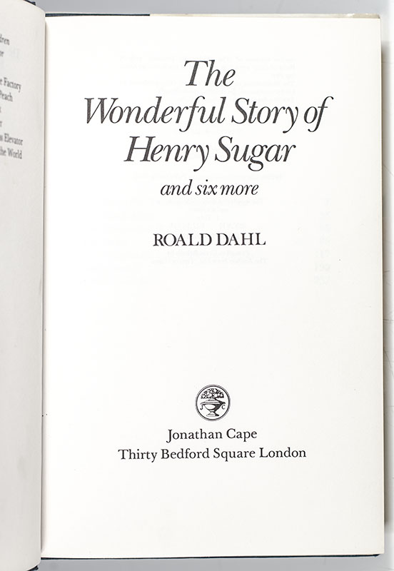 The Wonderful Story of Henry Sugar and Six More.