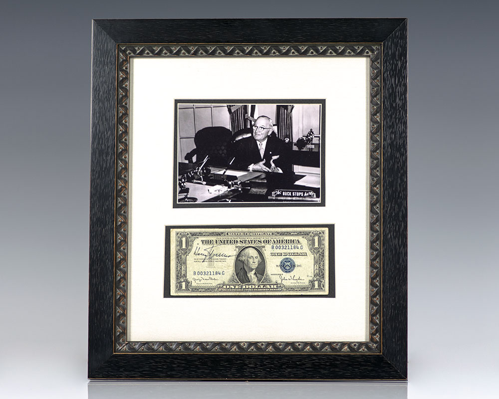 Harry S. Truman Signed Dollar Bill.
