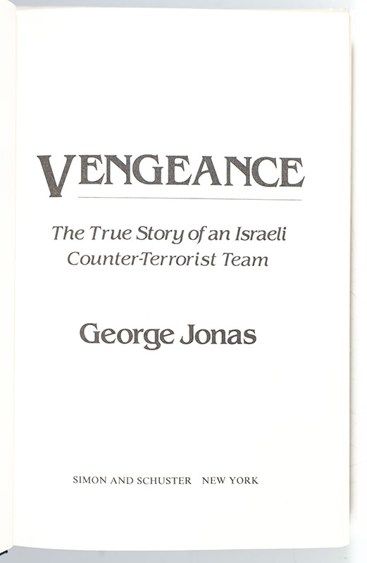 Vengeance: The True Story of an Israeli Counter-Terrorist Team.
