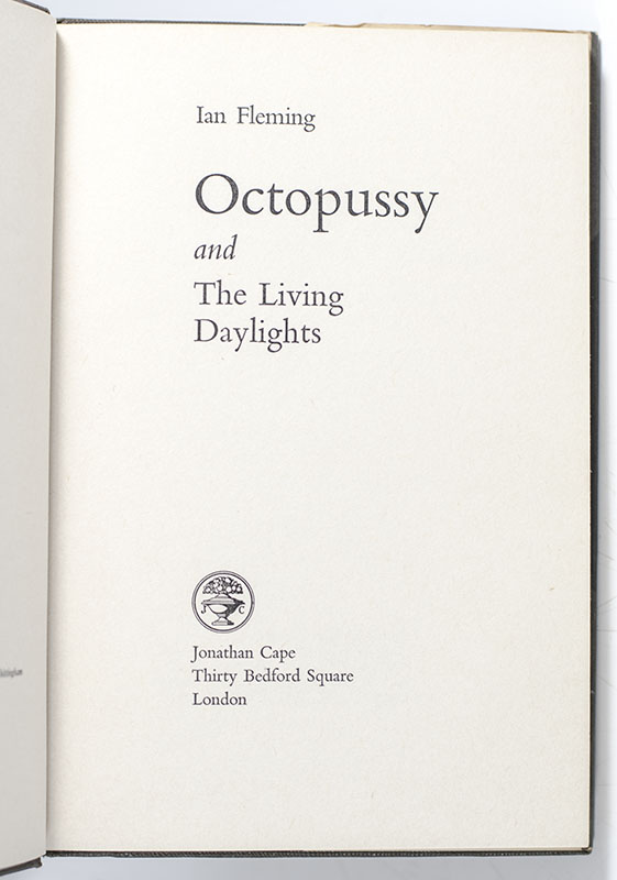Octopussy and the Living Daylights.