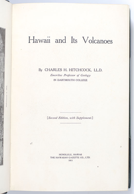 Hawaii and Its Volcanoes.
