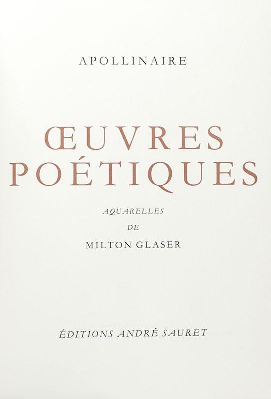 Oeuvres Poétiques de Guillaume Apollinaire