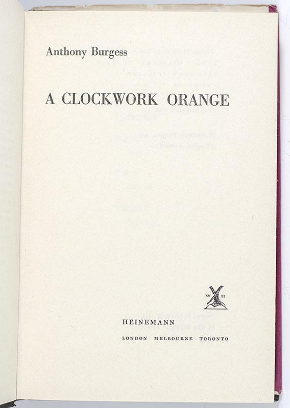A Clockwork Orange.