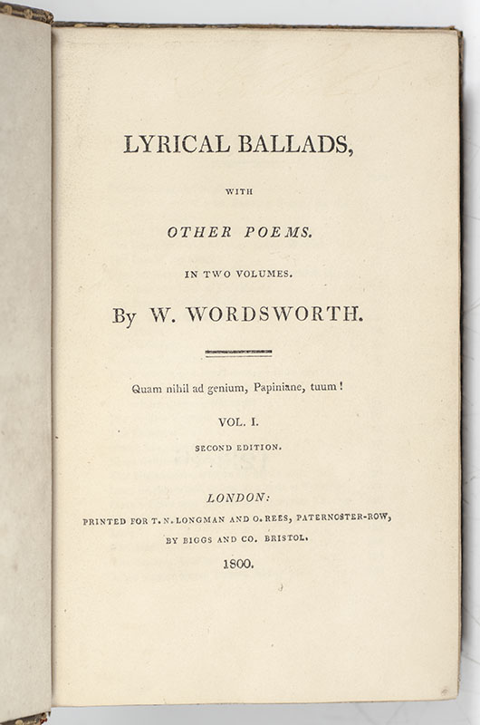 Lyrical Ballads, with Other Poems.