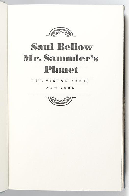 Mr. Sammler's Planet.
