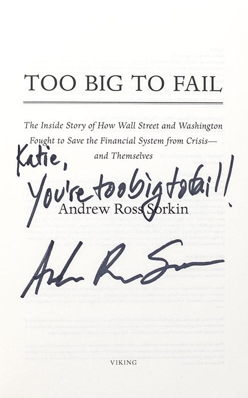 Too Big To Fail.