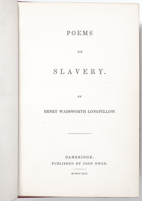 Poems on Slavery.