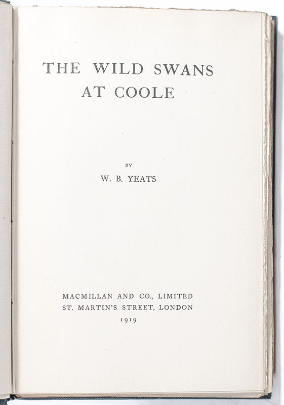 The Wild Swans at Coole.