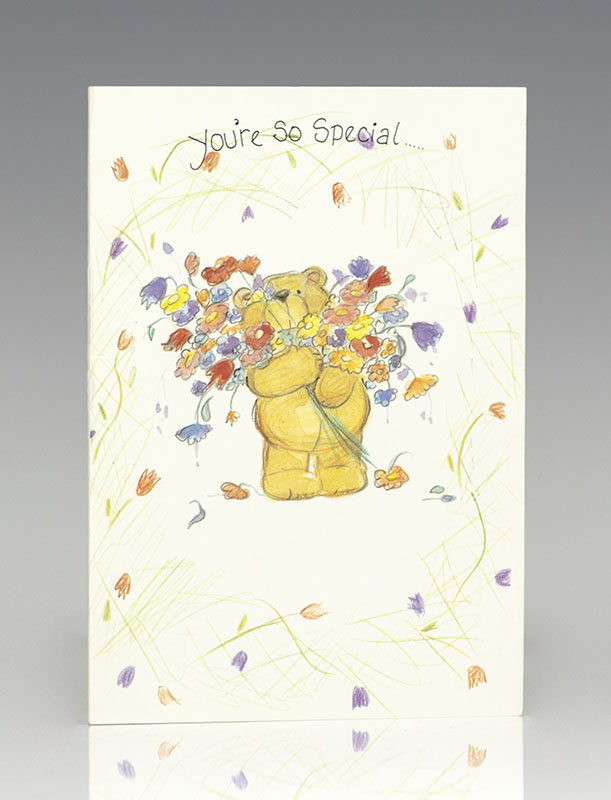 Princess Diana Signed Easter Greeting Card.
