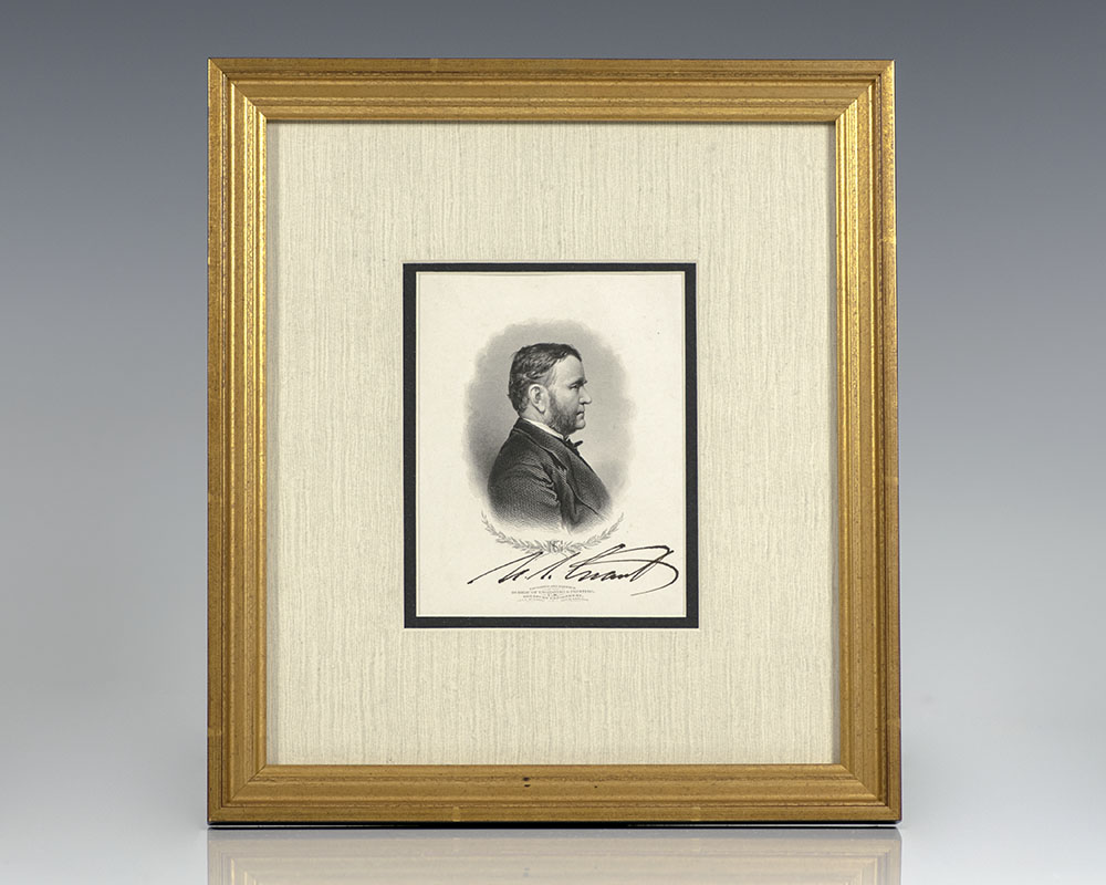 Ulysses S. Grant Signed Engraving.