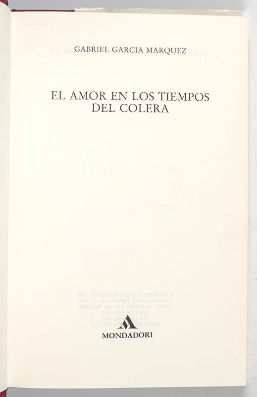 El Amor en los Tiempos del Colera (Love in the Time of Cholera).