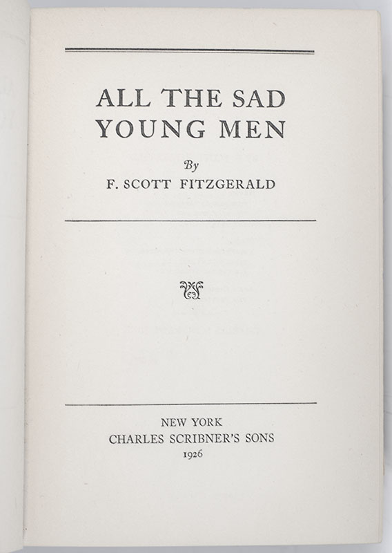 All the Sad Young Men.