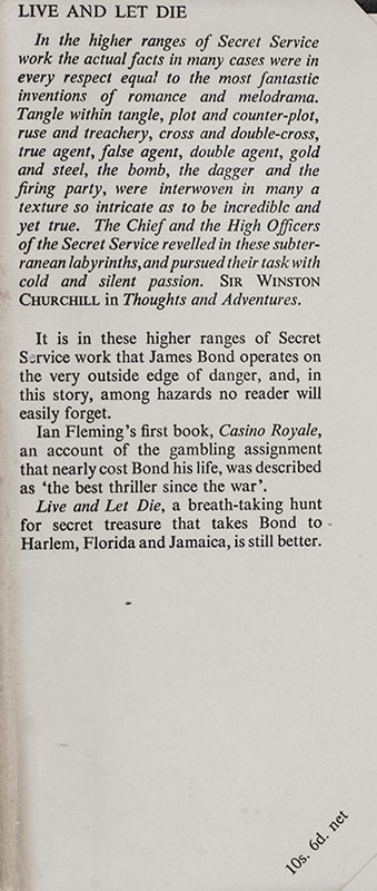 Complete Set of 14 First Edition James Bond Novels: Casino Royale, Live and Let Die, Moonraker, Diamonds are Forever, From Russia with Love, Dr. No, Goldfinger, For Your Eyes Only (short stories including A View to a Kill and Quantum of Solace), Thunderball, The Spy Who loved Me, On Her Majesties Secret Service, You Only Live Twice, The Man with the Golden Gun, Octopussy and The Living Daylights.