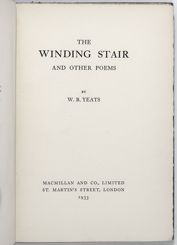 The Winding Stairs and Other Poems.