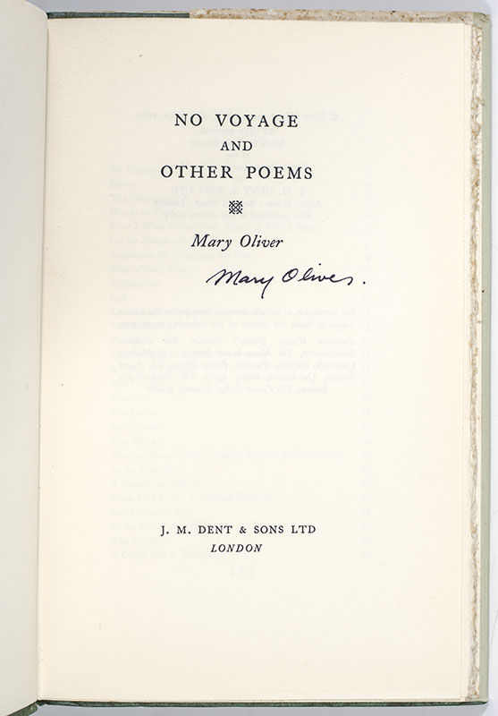 No Voyage and Other Poems.