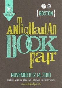 The 34th Annual International Boston Antiquarian Book Fair