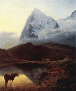 Painting of the Eiger by Maximilien de Meuron, early 19th century