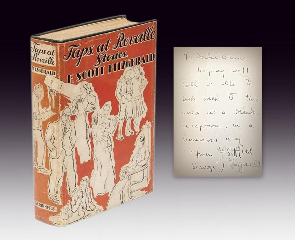 Taps at Reveille inscribed first edition F. Scott Fitzgerald
