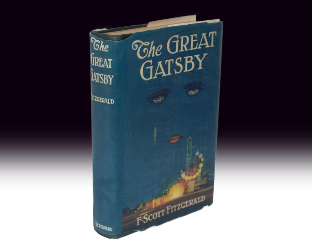 The first edition Great Gatsby in dust jacket