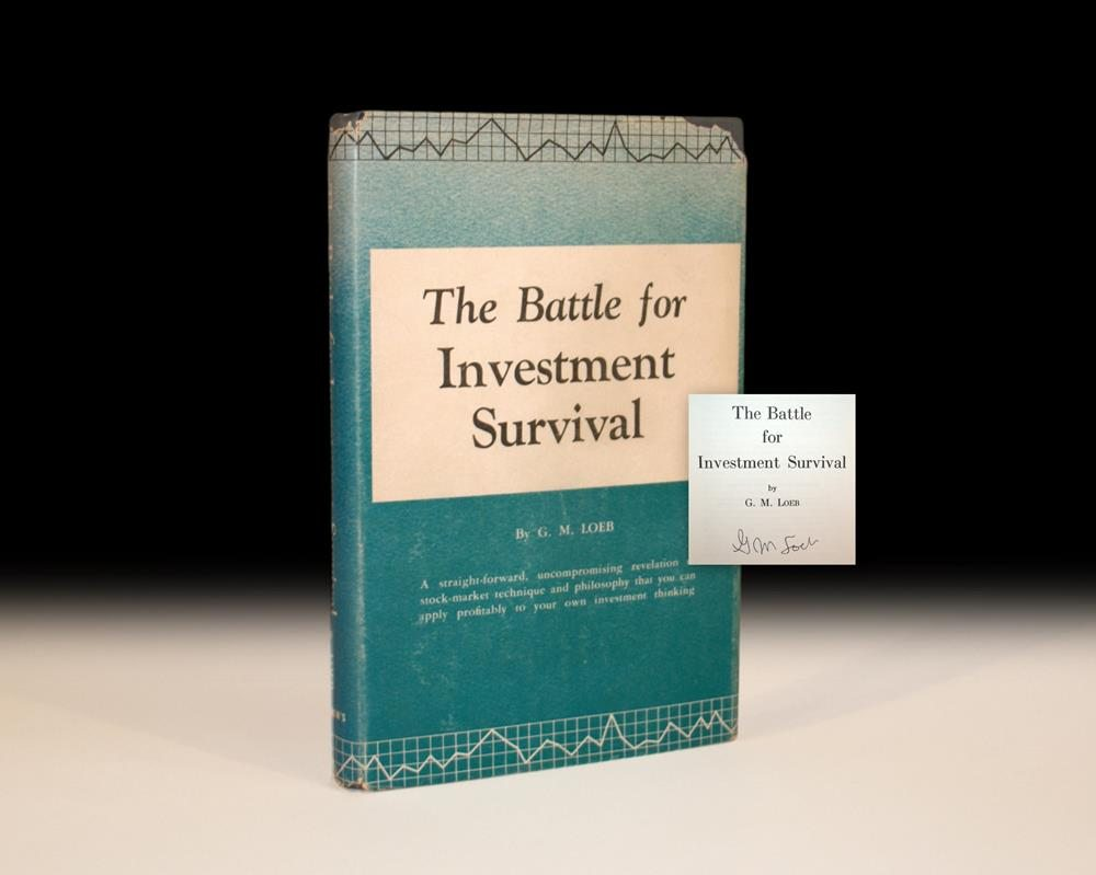 Signed copy of The Battle for Investment Survival by Gerald M. Loeb
