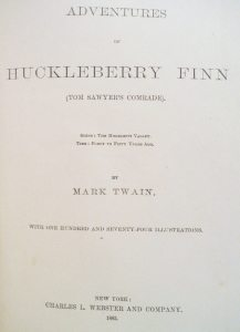 Huckleberry Finn First Edition title page