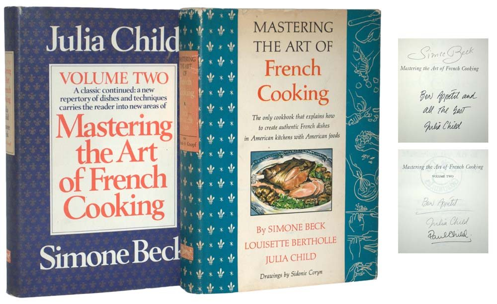 Julia Child, Mastering the Art of French Cooking, First Edition, Signed First Edition, Rare Book