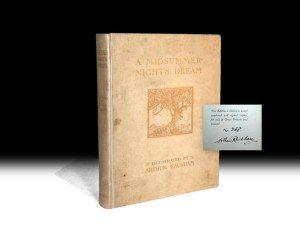Midsummer-Night's Dream, William Shakespeare, Rare, Signed by Arthur Rackham