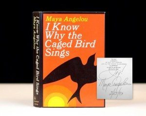 Maya Angelou, First Edition of I Know Why The Caged Bird Sings, Signed, Rare Edition