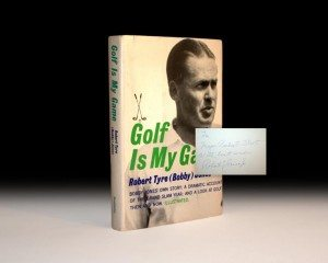Bobby Jones, Golf is my Game, Rare, Signed, First Edition