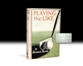 Bernard Darwin, Playing the Like, Rare, First Edition, Signed