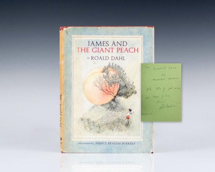 First Edition of James and the Giant Peach by Roald Dahl