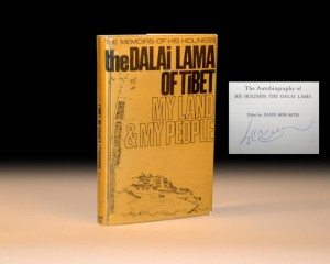 The Dalai Lama of Tibet's My Land and My People, Rare Signed First Edition