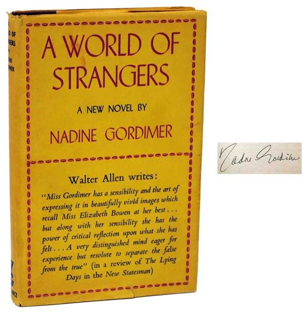 Nadine Gordimer, A World of Strangers, First Edition, Signed, Rare Book