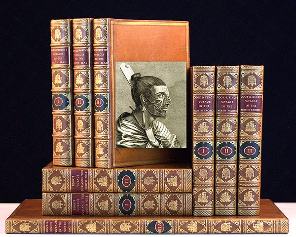Rare, complete set of Cook's Voyages by Captain James Cook