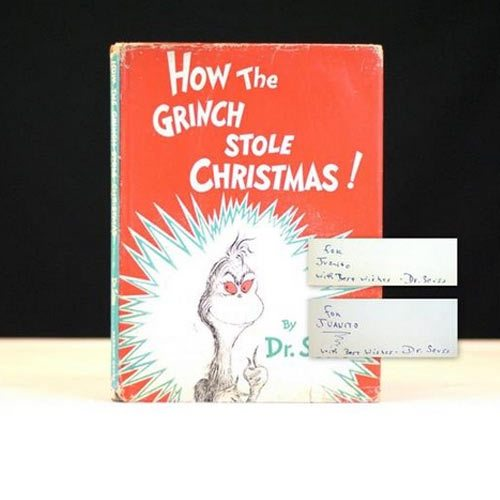 "First Edition of ""How the Grinch Stole Christmas"" by Dr. Seuss"
