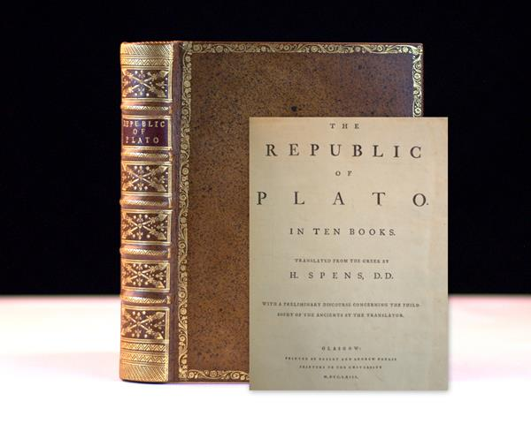 Plato's The Republic of Plato, Rare Book