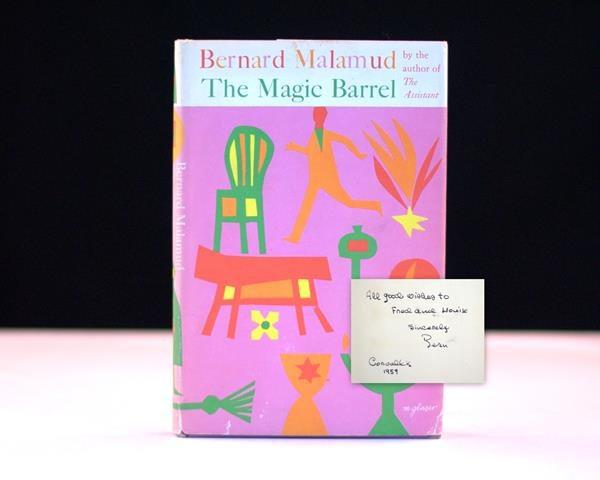 The Magic Barrel by Bernard Malamud Inscribed Rare First Edition