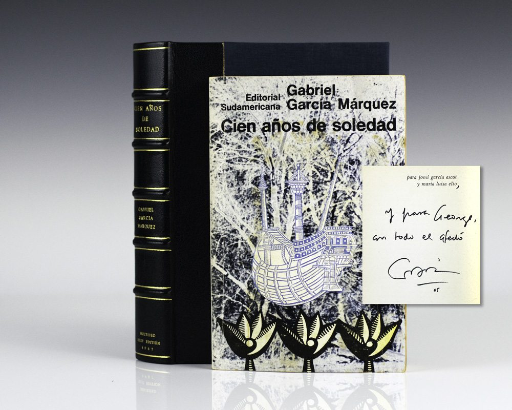 cien anos de soledad gabriel garcia marquez first edition signed 3070