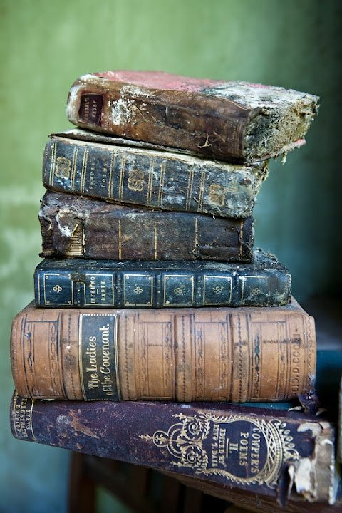 old decaying books
