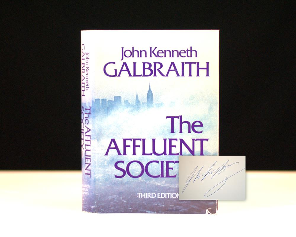 an analysis of conventional wisdom in the book the affluent society by john kenneth galbraith John kenneth galbraith was a renowned writer who is famous for his contribution as an economist in his book titled the affluent society (1958), he discusses how the united states should structure its economy after the effects of world war ii.