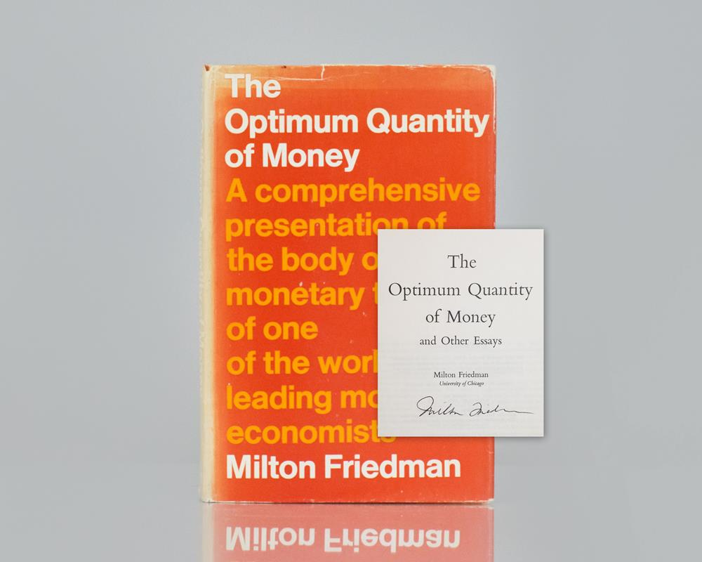 optimum quantity of money and other essays raptis rare books optimum quantity of money and other essays