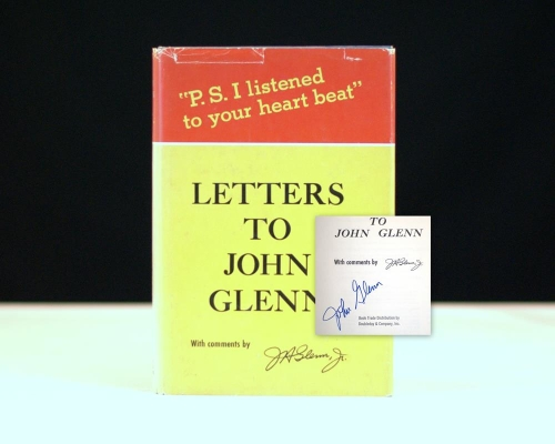 """Letters to John Glenn: """"P.S. I Listened to Your Heartbeat""""."""