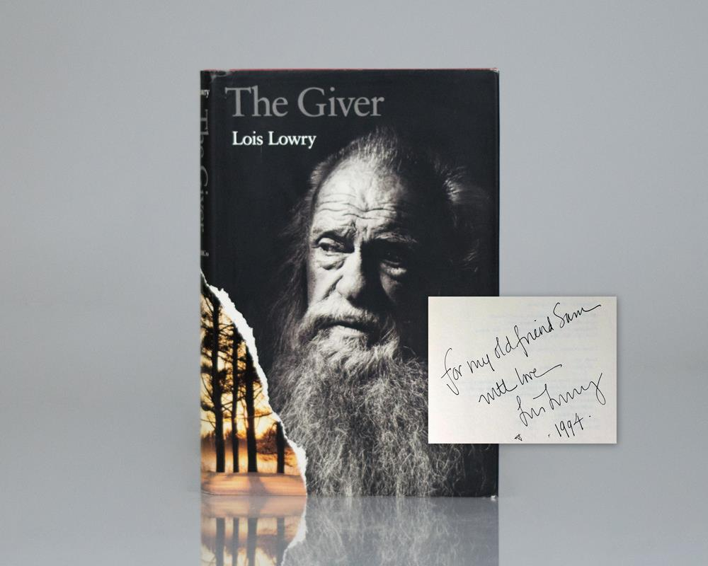 The giver lois lowry rare first edition signed newbery prize