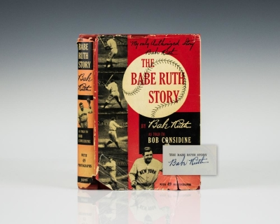 Babe Ruth signed first edition