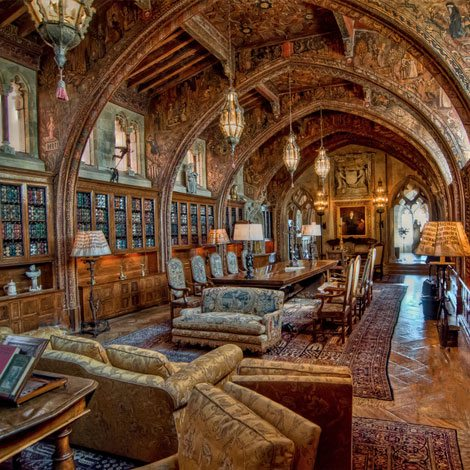 Gothic Study in Hearst Castle