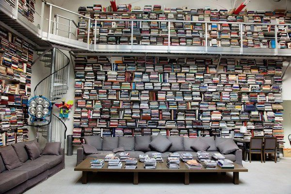 Karl Lagerfeld home library rare books