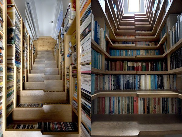 London library staircase