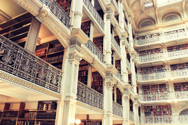 George Peabody Library Johns Hopkins University