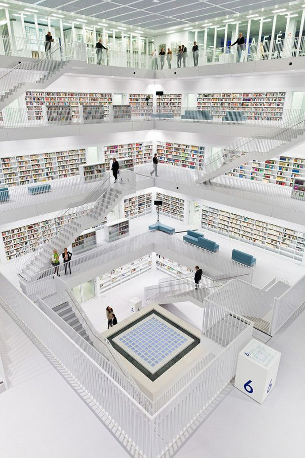 The Stuttgart City Visual Center Modern Library