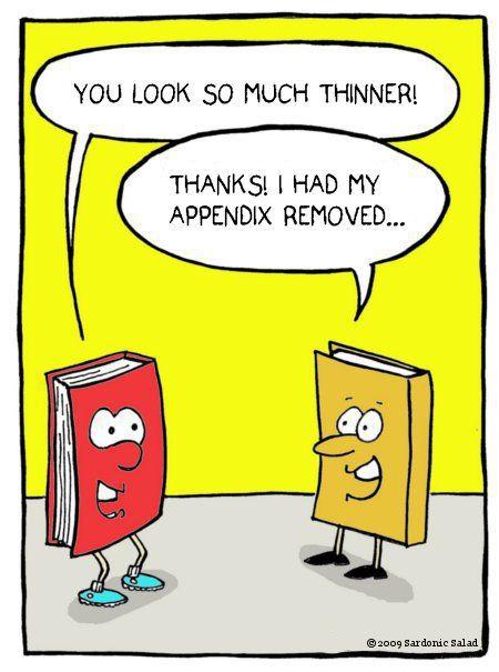 appendix removed book humor